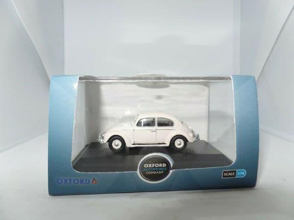 Oxford 76VWB008 VWB008 1/76 OO Scale VW Volkswagen Beetle Lotus White Beatles