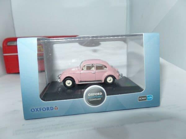Oxford 76VWB011UK VWB011 1/76 OO Scale VW Volkswagen Beetle Pink UK Registration