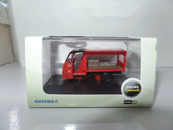 Oxford 76WE009 WE009 1/76 OO Scale Milk Float Scottish Farm Farmers Red