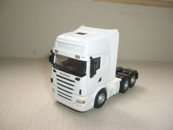 Oxford 76WHSCACAB WHSCACAB 1/76 OO Scale Scania Cab Unit Dealer White