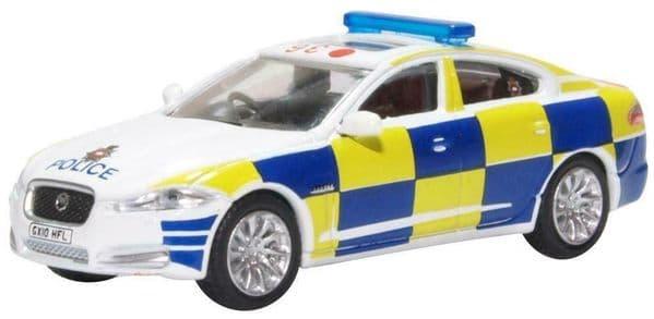 Oxford 76XF008 XF008 1/76 OO Scale Jaguar XF Surrey Police Blue & Yellow Batten