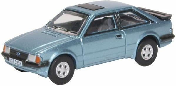 Oxford 76XR006 XR006 1/76 OO Scale Ford Escort 3 III XR3 XR3i Caspian Blue