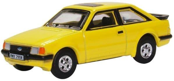 Oxford 76XR007  XR007 1/76 OO Scale Ford Escort III XR3i  Prairie Yellow