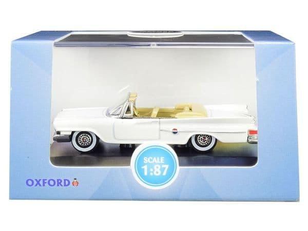 Oxford 87CC61003 CC61003 1/87 HO Chrysler 300 Convertible 1961 Open Alaskan White