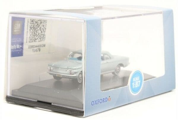 OXFORD 87CH63001 CH63001 1/87 HO Scale CHEVROLET CORVAIR COUPE 1963 SATIN SILVER
