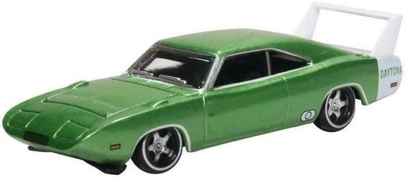 Oxford 87DD69003 DD69003 1/87 HO Dodge Charger Daytona 1969 Green & White Fin