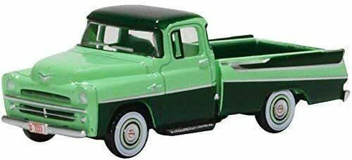 Oxford 87DP57003 DP57003 1/87 HO Dodge D100 Sweptside Pick Up 1957 Forest  Misty Green