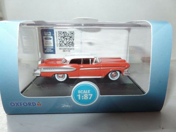 Oxford 87ED58006 ED58006 1/87 HO Scale dsel Citation 1958 Ember Red Frost White