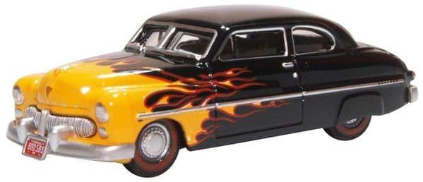 Oxford 87ME49009 ME49009 1/87 HO Scale Mercury 1949 Hot Rod Flames