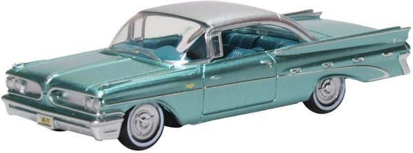 Oxford 87PB59003 PB59003 1/87 HO Scale Pontiac Bonneville Coupe 1959 Seaspray Green Metallic