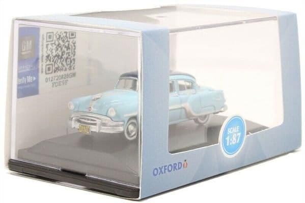 Oxford 87PC54001 PC54001 1/87 HO Scale Pontiac Chieftain 1954 Mayfair Blue San Marino Blue