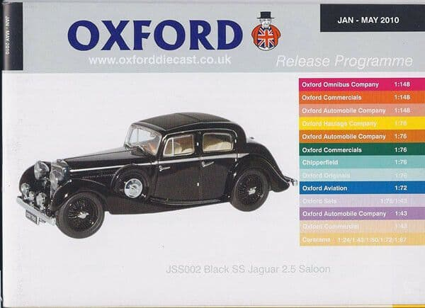 Oxford Diecast Catalogue 2010 January 2010 - May 2010 SS100
