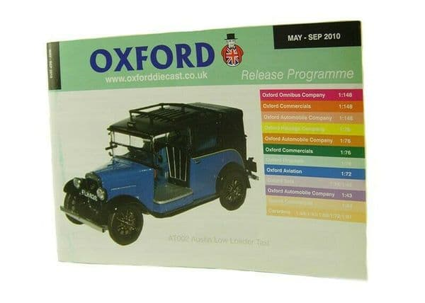 Oxford Diecast Catalogue 2010 May 2010 - September 2010 blue taxi