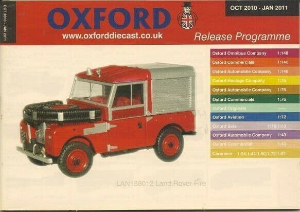 Oxford Diecast Catalogue 2010 October 2010 - January 2011 Landy fire