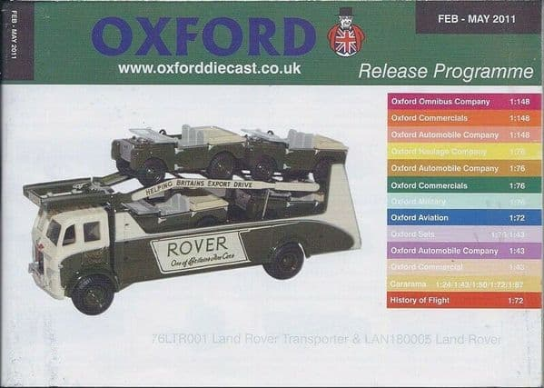 Oxford Diecast Catalogue 2011 February 2011- May 2011 LTR001