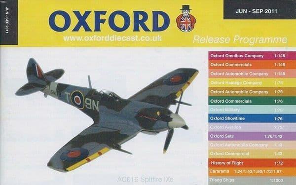 Oxford Diecast Catalogue 2011 June 2011 - September 2011 Spitfire