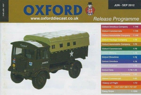 Oxford Diecast Catalogue 2012 June 2012 - September 2012 Matador