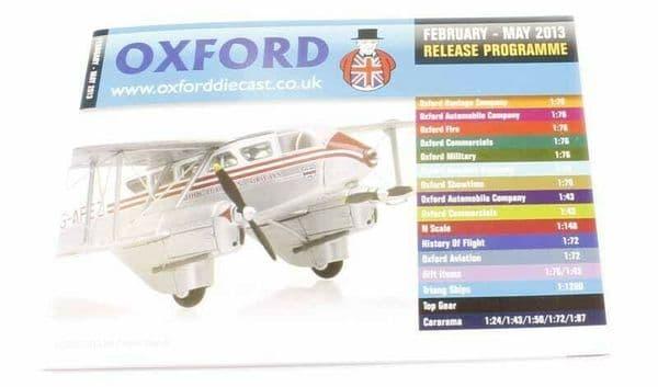 Oxford Diecast Catalogue 2013 February 2013 - May 2013 DeHav