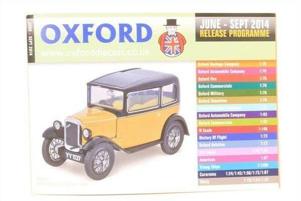 Oxford Diecast Catalogue 2014 June 2014 - September 2014 Austin 7