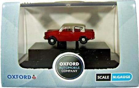 Oxford N105001 N Gauge 1/148 Scale Ford Anglia 105 Cream / Maroon