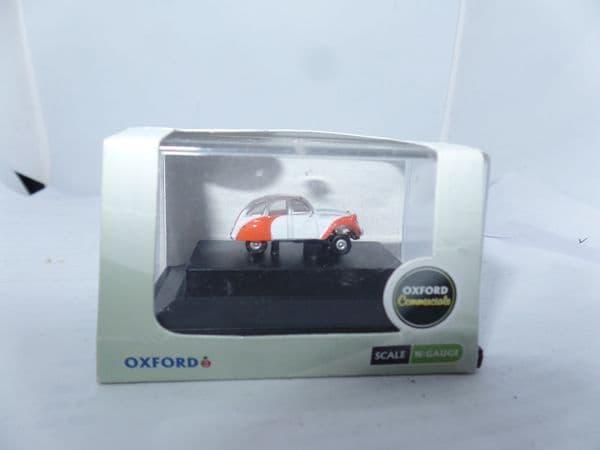 Oxford NCT003 N Gauge 1/148 Scale Citroen 2CV Dolly Red Orange White Stripes