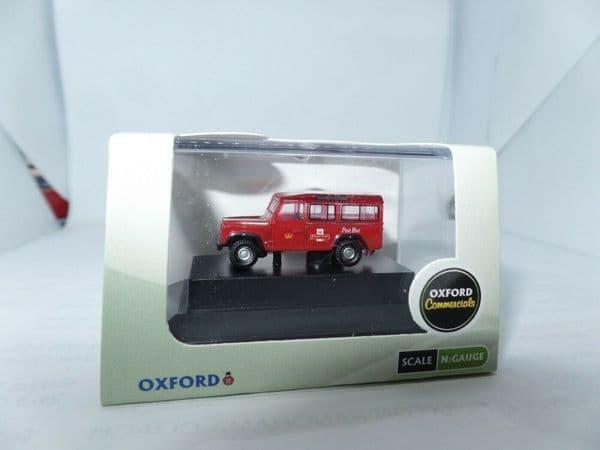 Oxford NDEF002 N gauge 1/148 Land Rover Defender Royal Mail Post Office Post Bus