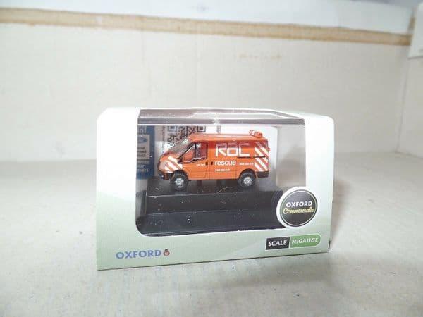 Oxford NFT003 N Gauge 1/148 Scale Ford Transit RAC Rescue Orange