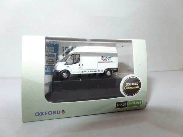 Oxford NFT010 N Gauge 1/148 Scale Ford Transit Eddie Stobart Rail