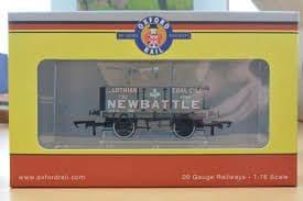 Oxford Rail OR76MW4005 MW4005 1/76 OO 4 Plank Mineral Wagon Lothian Coal Co  New Battle