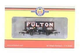 Oxford Rail OR76MW7018  MW7018  1/76 OO Scale Fulton Coal 602 London 7 Plank Wagon