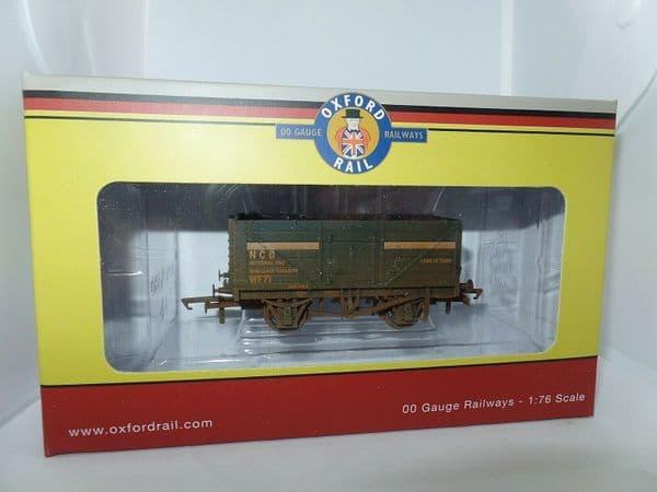 Oxford Rail OR76MW7030W MW7030W 7 Plank Wagon NCB Internal User Coal Weathered