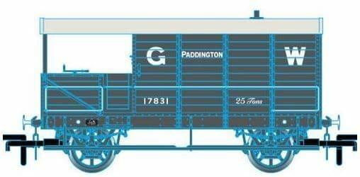 Oxford Rail OR7TOB001 TOB001 1/76 OO GWR Toad Brake Van 6 Wheel Planked PADD