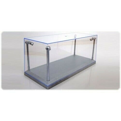 Triple 9 189922 1/18 LED DISPLAY CASE 4 ADJUSTABLE LIGHTS 35 X 15 X 16 CM SILVER