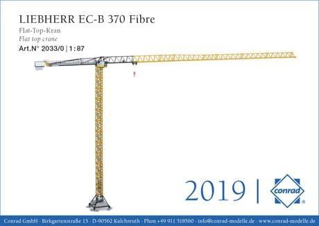 Conrad Liebherr EC-B 370 Fibre Flat top tower crane 1:87