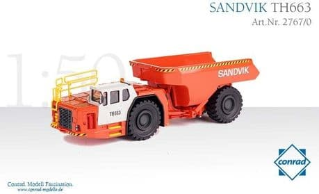 Conrad SANDVIK TH663 underground mining dumper
