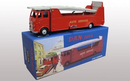 DAN Toys Dinky re-creation Leyland Beaver Auto Service Car Carrier in Red