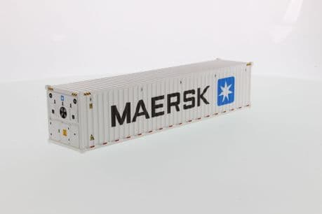 DiecastMasters 40 Foot Refridgerated Sea Container Maersk White