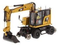 DiecastMasters Caterpillar M323F Railroad Wheeled ExcavatorCAT Yellow Version