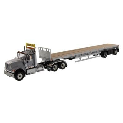 DiecastMasters International® HX520 Tandem Tractor with 53' Flatbed Trailer (Grey)