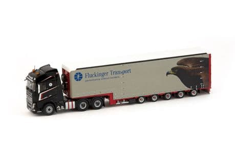 IMC Fluckinger Volvo FH04 globetrotter 6x4 with Meusburger 5 axle Machinery Removal Trailer