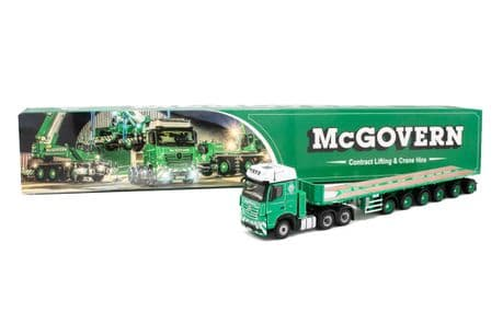 IMC McGovern Mercedes-Benz Actros BigsSpace 6x4 with Nooteboom 6-axle Ballast Trailer