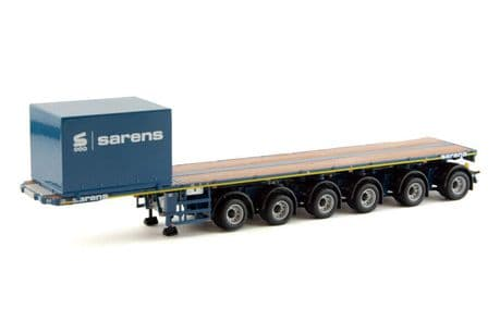 IMC Sarens Nooteboom6 Axle Ballast Trailer with 10ft Container