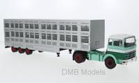 IXO Mercedes LPS 1632, Green / White, cattle transporter, 1970