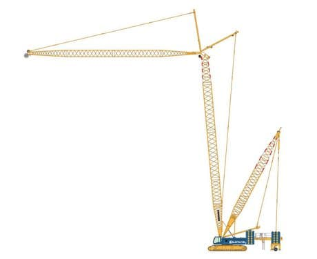 NZG Sarens Liebherr LR 1300 Crawler Crane with Derrick Extension