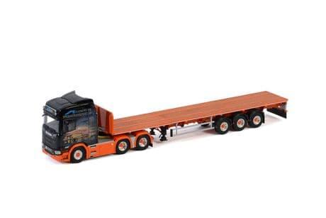 WSI Element og Spesialtransport ASScania R Highline CR20H 6x4 With Extending Flatbed Trailer