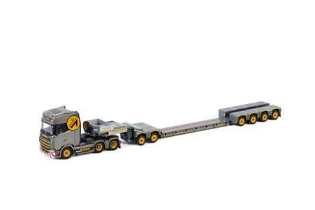 WSI Gebri ScaniaS Highline CS20H 6X4 Spine Bed Lowloader 4 Axle + 2 Axle Dolly