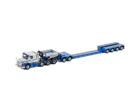WSI L.A. v.d. Heuvel Scania 3 Series Torpedo 8x4 with Nooteboom Spine bed Lowloader