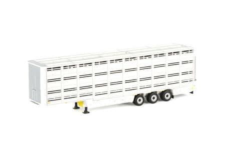 WSI Livestock CattleTrailer in White