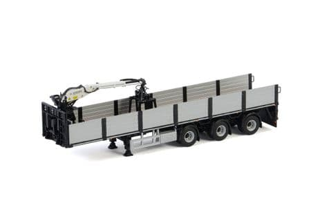 WSI Premium LineBrick Trailer Black - 3 Axle