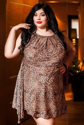 Aila' Leopard Print Babydoll e